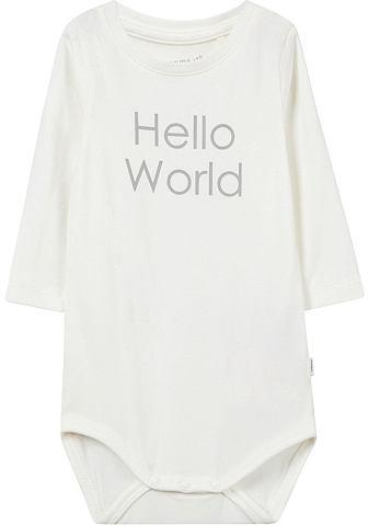 Боди с длинным рукавом »HELLO WO...
