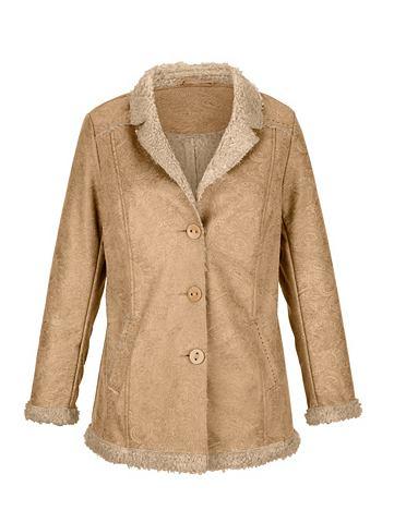 Куртка в Lammfell-Optik