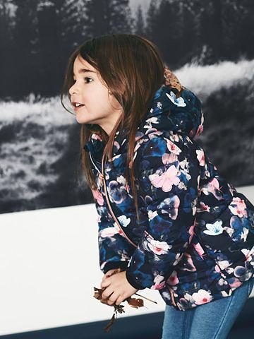 Wattierter цветочным узором куртка зим...