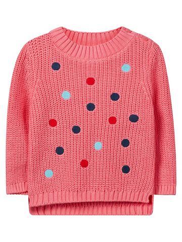 Пятнистый вязаный пуловер