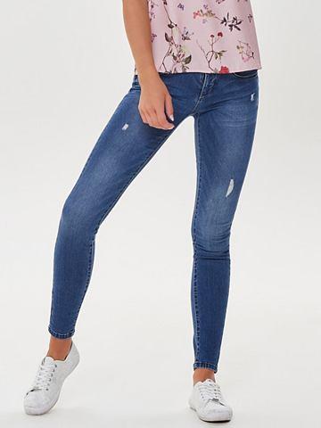ONLY Coral Destroyed облегающий форма джинс...