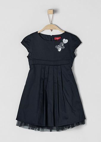Праздничное платье с блестящий орнамен...