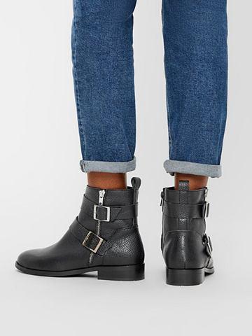Кожа укороченный ботинки