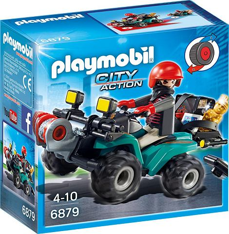 PLAYMOBIL ® Ganoven-Quad с Seilwinde (6879) ...