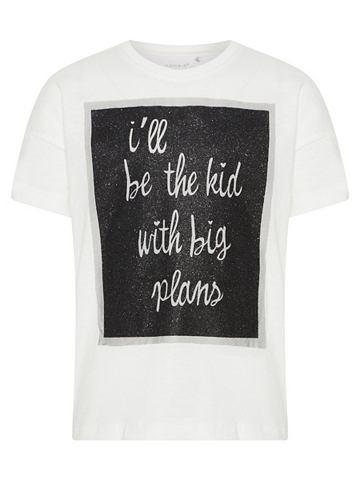 NAME IT Glitzerprint футболка