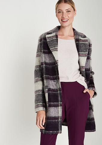 Пальто с lässigem клетчатый