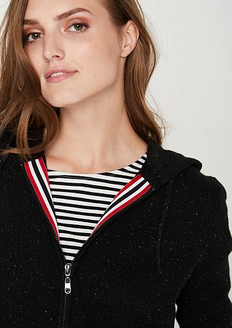 Куртка с капюшоном из Feinstrick
