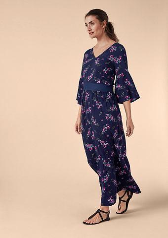 Цветочный узор платье-макси длинное
