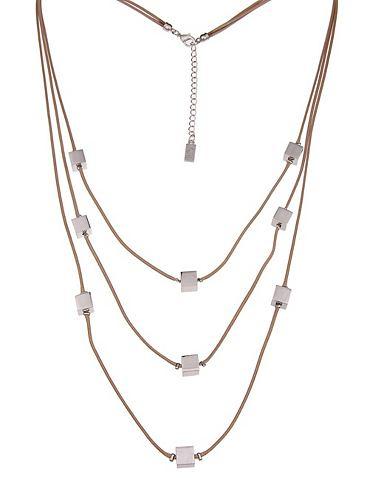 LESLII Ожерелье из шнурки с Würfel-Perle...