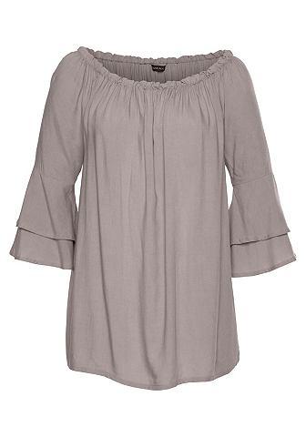 Блуза с колокольчиковидные рукава