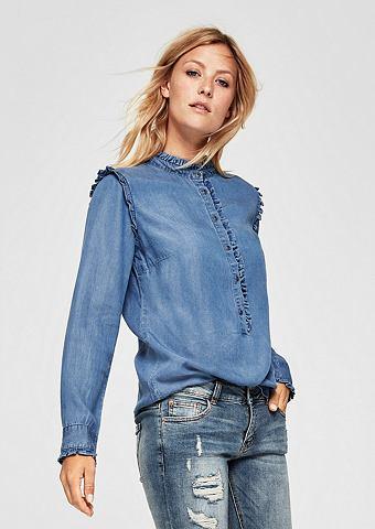 Gerüschte джинсовая блузка