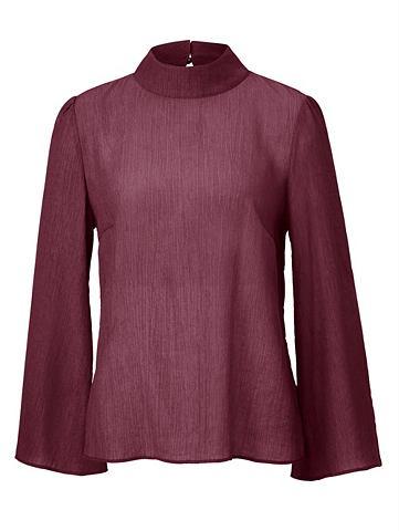 Блуза с воротник стойка