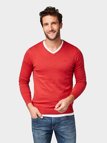 Трикотажный пуловер Свитер с V-Ausschn...