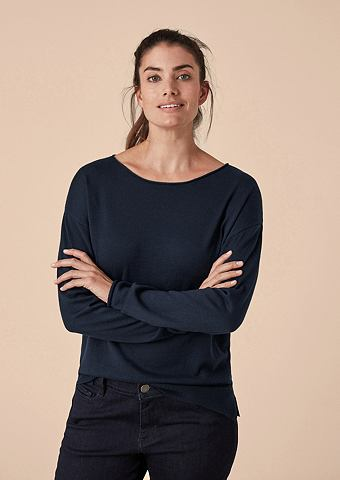 Нежный пуловер с Rollsäumen