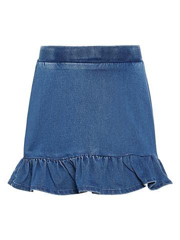 Оборка юбка джинсовая