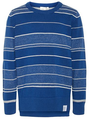 В полоску Feinstrick пуловер