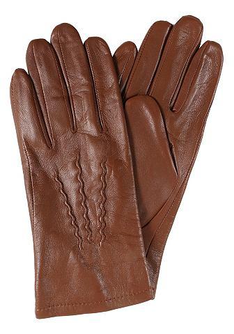 Перчатки кожаные в классические стиль