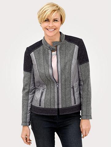 Пиджак в сочетание материалов