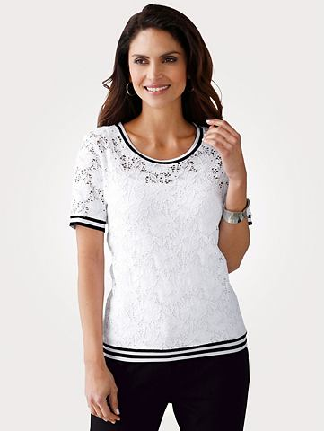 2-in-1 футболка из цветочный кружева