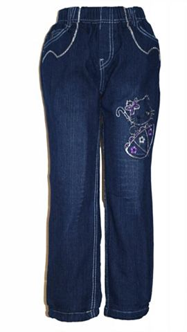 Термо-джинсы с besticktem Motiv