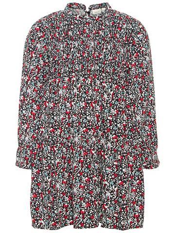 Цветочным узором вискоза платье