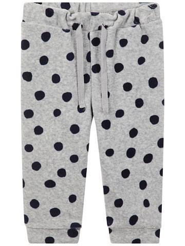 Gepunktete Velours- брюки