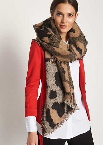 Asymmetrischer шарф вязаный с декорати...