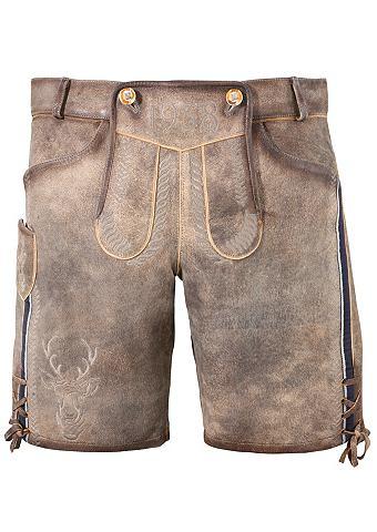 KRÜGER BUAM Krüger Buam брюки кожаные из наци...