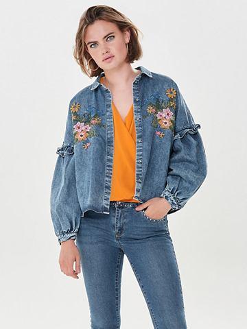 ONLY Окантовка рубашка джинсовая