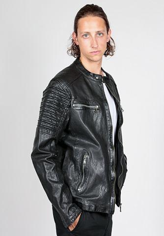 FREAKY NATION Куртка кожаная »Iron Guy«