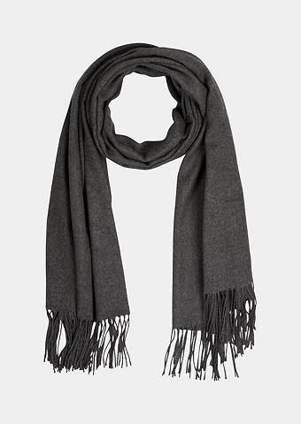 Мягкий шарф вязаный с Fransenverzierun...