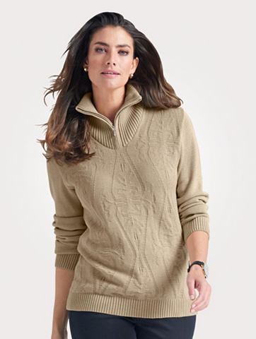MONA Пуловер с Troyerkragen