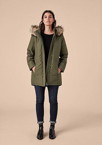 Wattierte куртка с Kunstfellbesatz