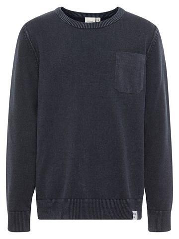 Einfarbiger вязаный пуловер