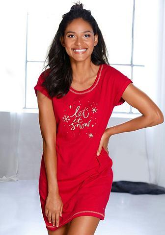 Ночная рубашка с weihnachtlichem узор