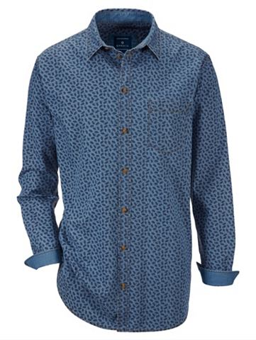 BABISTA Рубашка джинсовая с сдержанный цветочн...