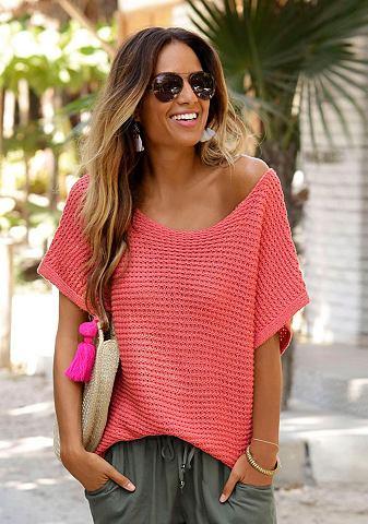Пуловер в luftigem Ajourstrick