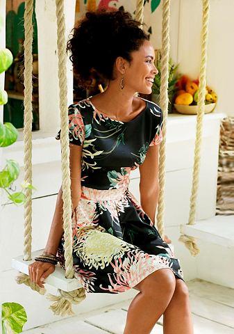 LASCANA Платье с Falten в Rockteil