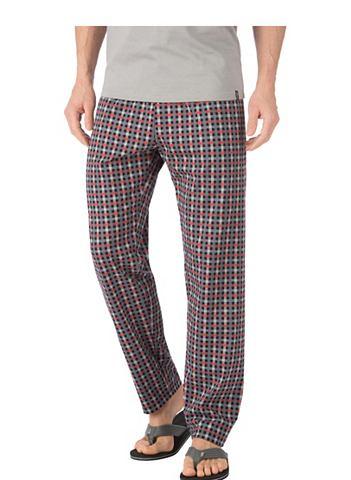 Длиный брюки пижамные с клетчатый