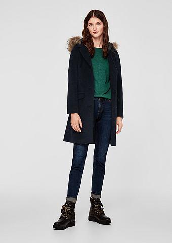 S.OLIVER RED LABEL Пальто шерстяное с стеганый капюшон