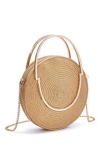 Runde Mini-Strandtasche
