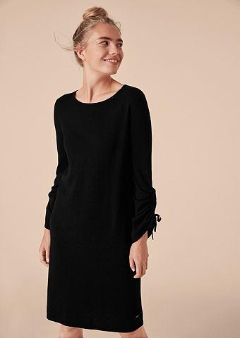 Платье с морщинистыми рукавами