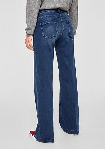 Элегантный Wide: джинсы с с кантом