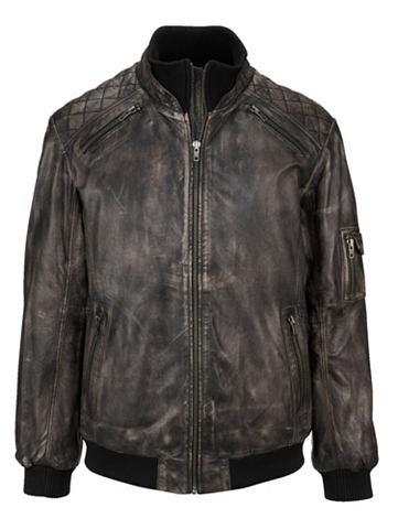 Куртка кожаная в markanter Used-Optik