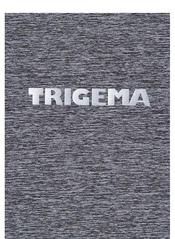 TRIGEMA Длинный рукав футболка в Melange-Optik...