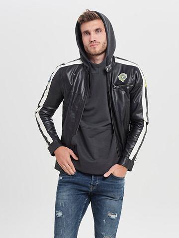 ONLY & SONS Байкер-стиль куртка из...