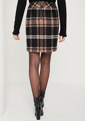 Короткий юбка с клетчатый