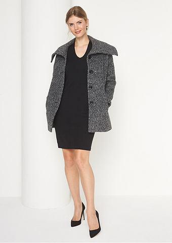 Warmer пальто из graumelangiertem Bouc...