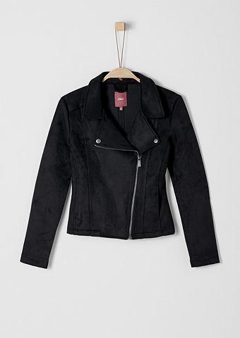 Байкерские куртка в имитация кожи для ...