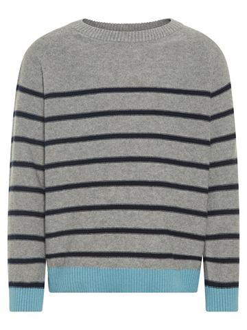 В полоску трикотажный пуловер